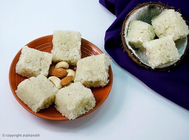 coconut barfi 1