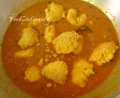 Fish egg curry macher dimer jhal food indian for How to cook fish eggs