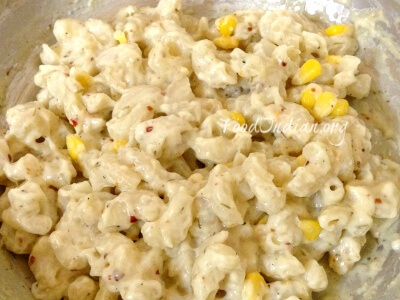 macaroni with white sauce 9