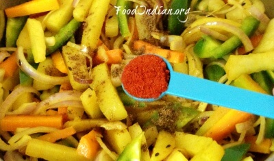 how to make mixed vegetable curry indian