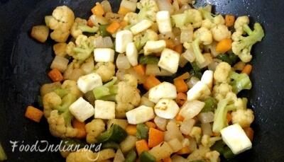 vegetable paneer korma 7